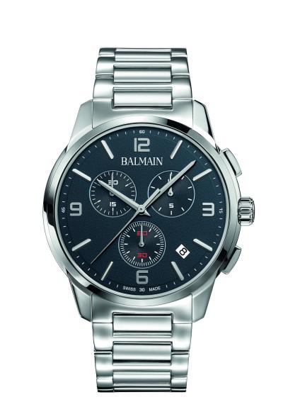 Balmain -Heren horloge chronograaf met donkerblauwe wijzerplaat B74813394