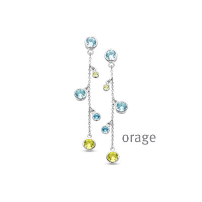 Orage - Oorhangers in zilver - AS002