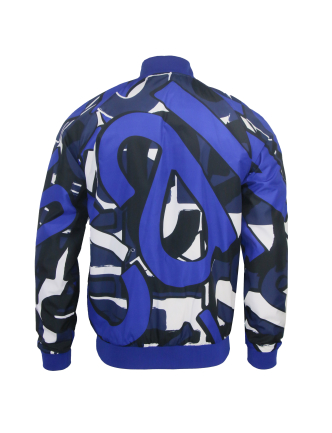 62aabafc64dbb9 Roberto Cavalli. Men s Macro Lettering Print Jacket