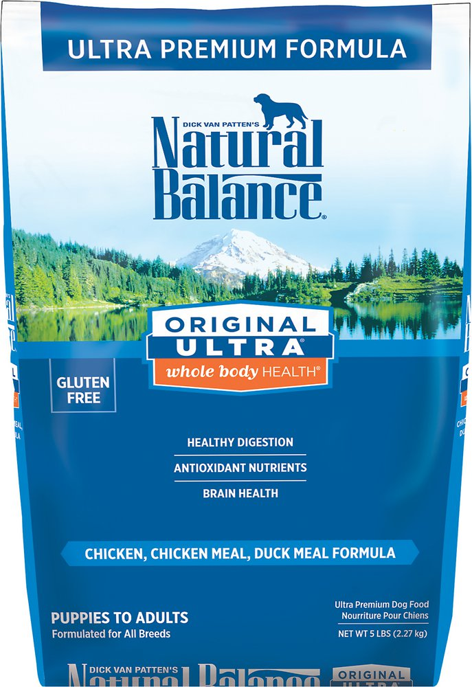 Natural Balance Original Ultra Whole Body Health Chicken, Chicken Meal & Duck Meal Formula Dry Dog Food 5lbs