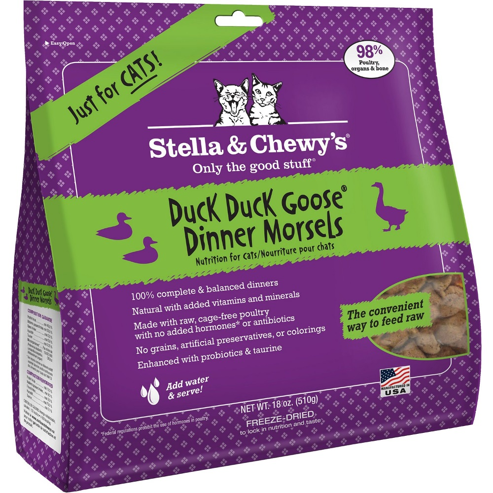 Stella & Chewy's Duck Duck Goose Dinner Raw Freeze Dried Cat Food 18z