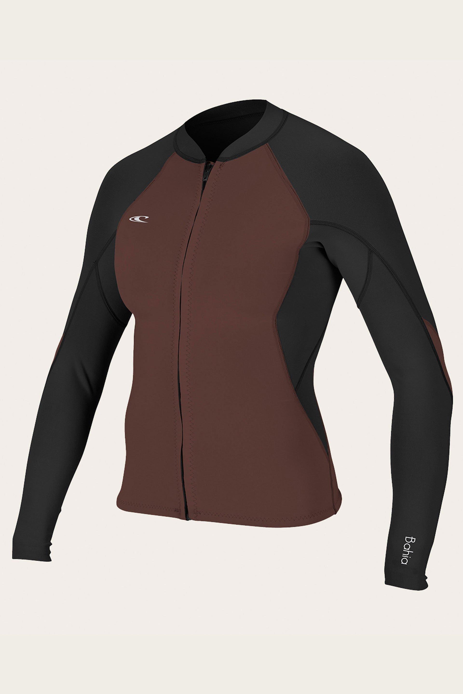 O Neill Womens Bahia 1.0 0.5mm Full Zip Wetsuit Jacket  405186340