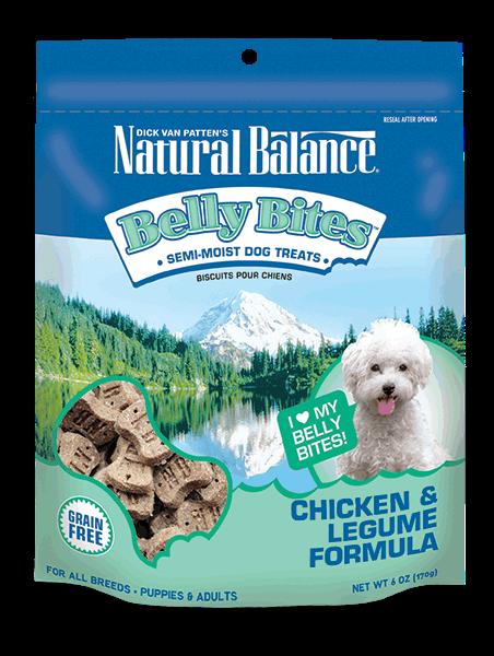 Natural Balance Belly Bites Chicken & Legume Treat 6z