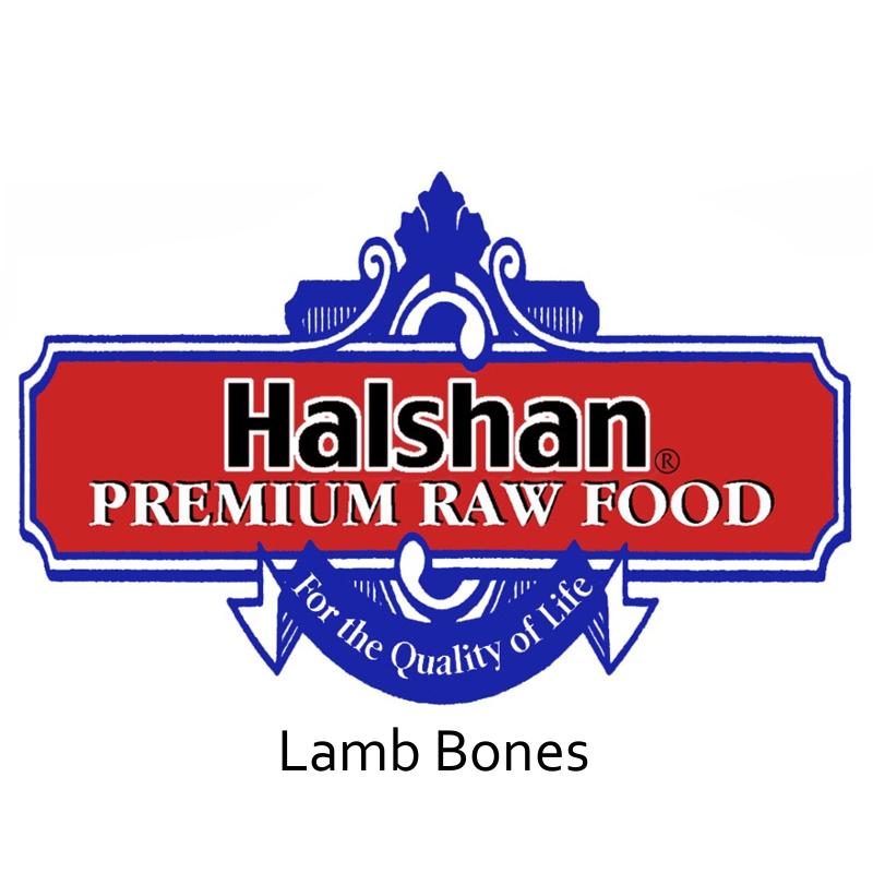 Halshan Lamb Bones Raw Frozen Dog Treats 5lbs