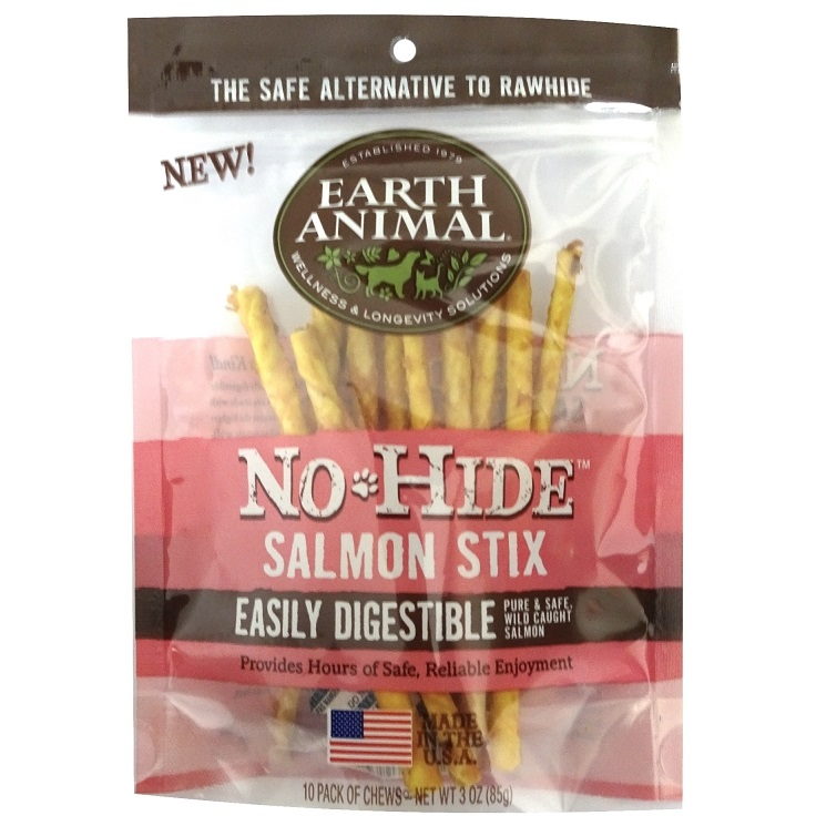 Earth Animal No Hide Salmon Stix Chews Dog Treat 3z