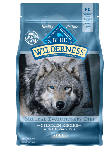 Blue Buffalo Wilderness Chicken Recipe Grain-Free Dry Dog Food 4.5lbs