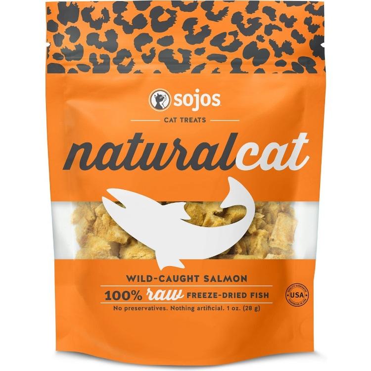 Sojos NaturalCat Wild-Caught Salmon Freeze-Dried Cat Treats 1z
