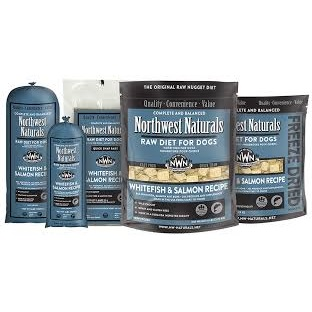 Northwest Naturals Raw Diet Grain-Free Whitefish & Salmon Nuggets Raw Frozen Dog Food 6lbs
