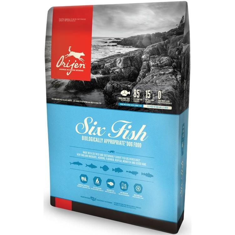 Orijen Six Fish Grain-Free Formula Dry Dog Food 13lbs