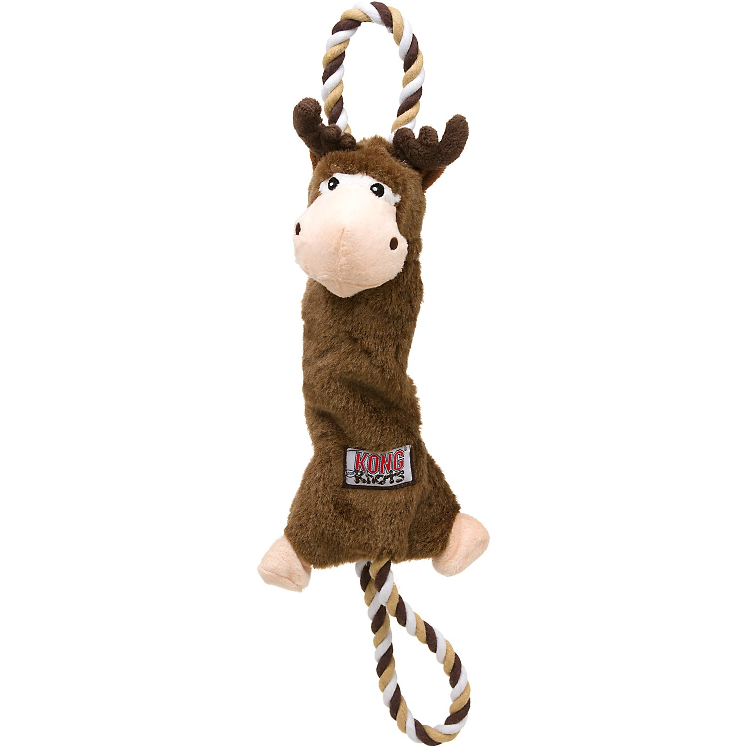 KONG TOY TUG KNOT MOOSE SM/MD