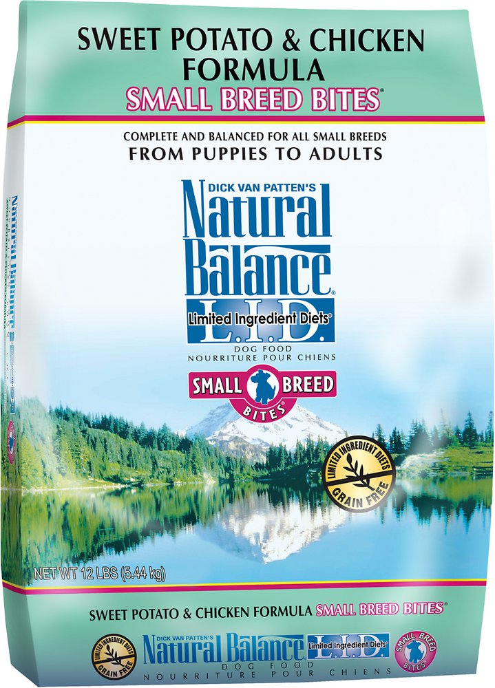 Natural Balance L.I.D. Limited Ingredient Diets Sweet Potato & Chicken Formula Small Breed Bites Dry Dog Food 12lbs