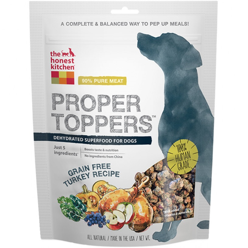The Honest Kitchen Proper Toppers Grain Free Turkey Recipe for Dogs 5.5z