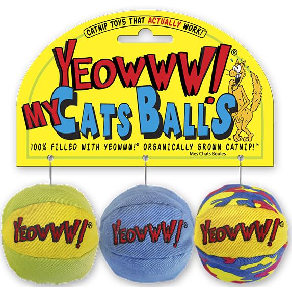 Yeowww! My Cats Balls Cat Toy - 3pk