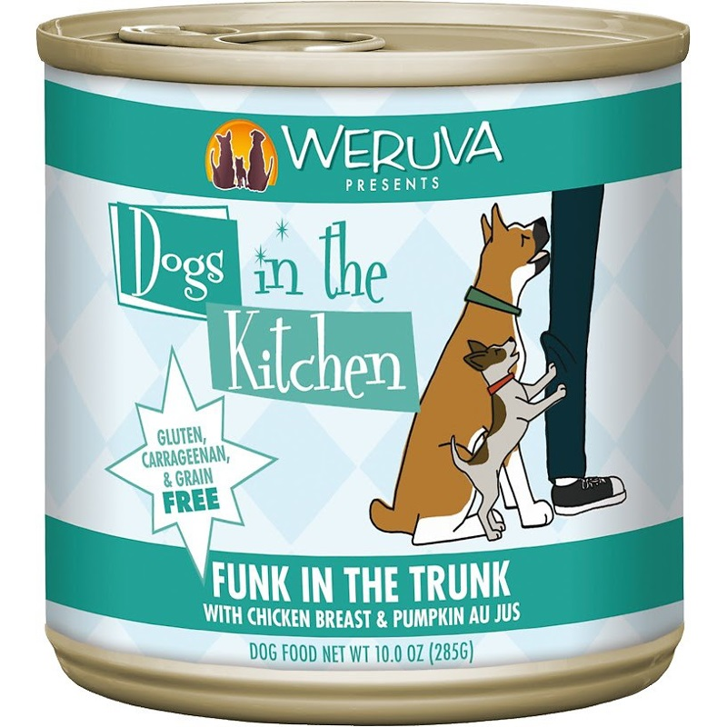 Weruva Dogs in the Kitchen 'Funk in the Trunk' Chicken Breast & Pumpkin Au Jus Canned Dog Food 10z, 12