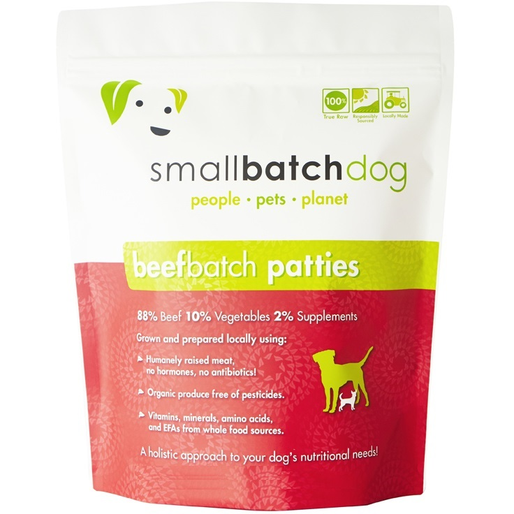 Small Batch 8z Beef Patties Raw Frozen Dog Food BULK 18lbs, 36 Count