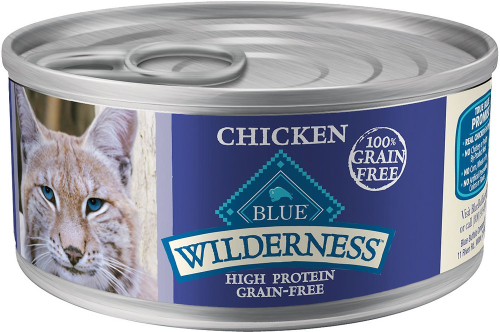 Blue Buffalo Wilderness Chicken Grain-Free Canned Cat Food 5.5z, 24