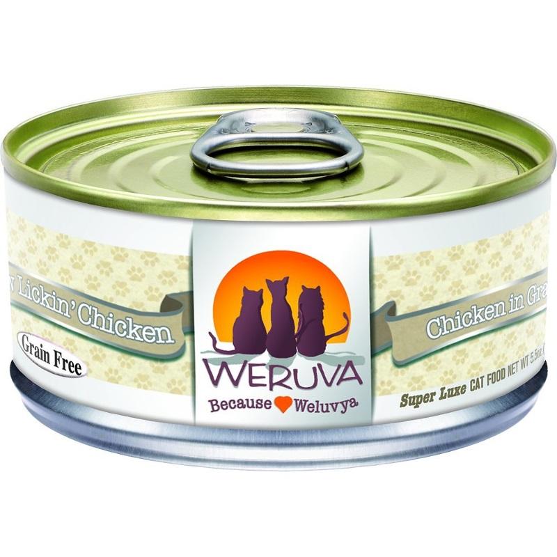 Weruva Grain-Free Paw Lickin' Chicken in Gravy Canned Cat Food 5.5z, 24