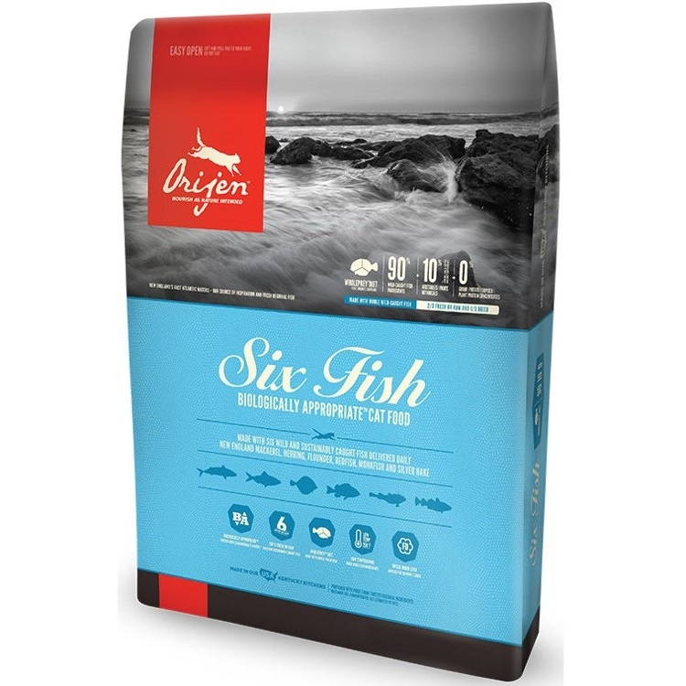 Orijen Six Fish Grain-Free Formula Dry Cat Food 4lbs