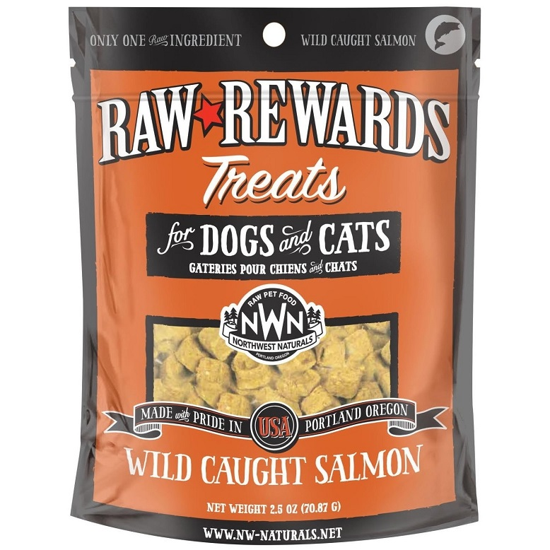 Northwest Naturals Raw Rewards Salmon Freeze Dried Dog & Cats Treats 2.5z