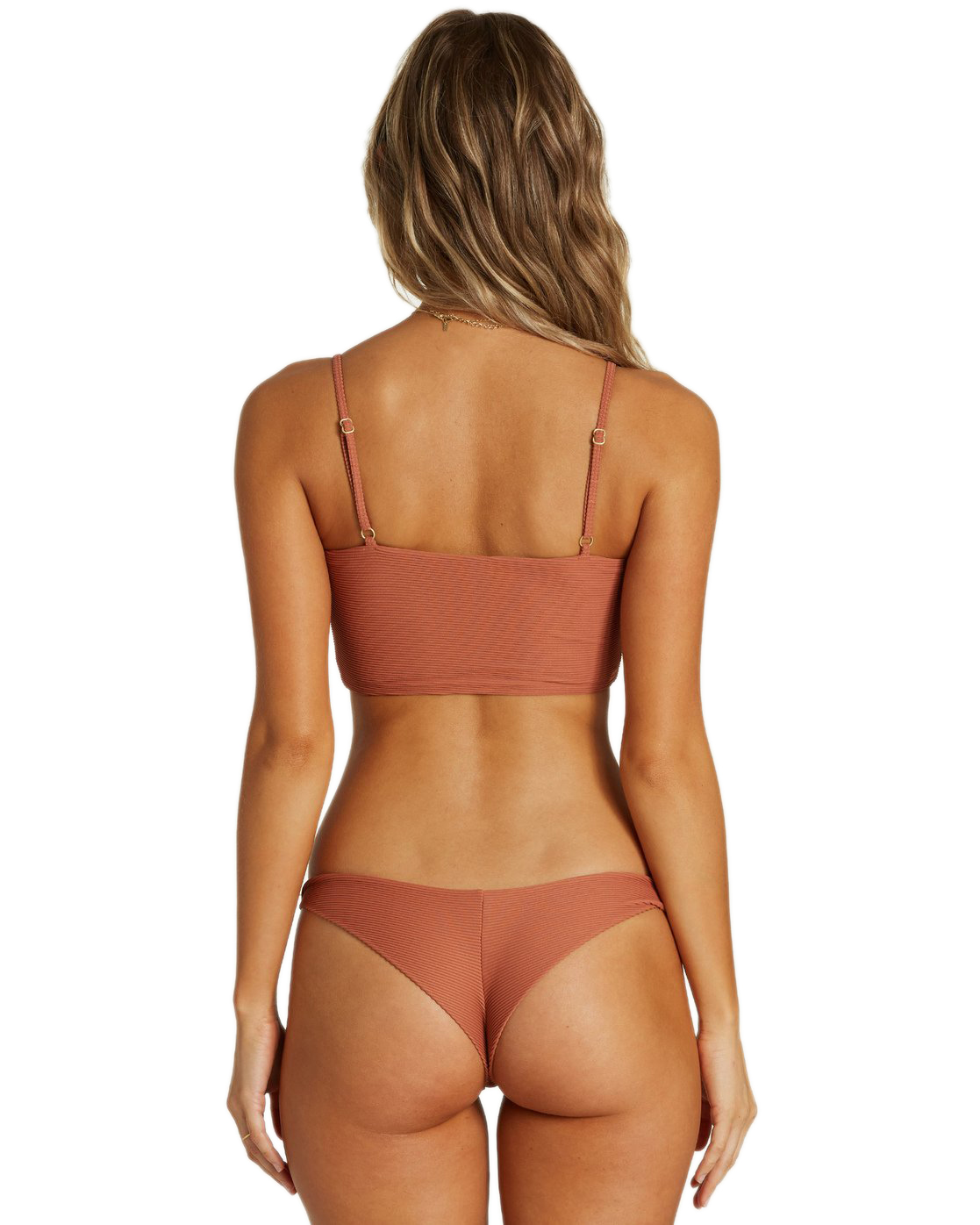 Billabong Tanlines Tanga Bikini Bottom CAO Cacao S