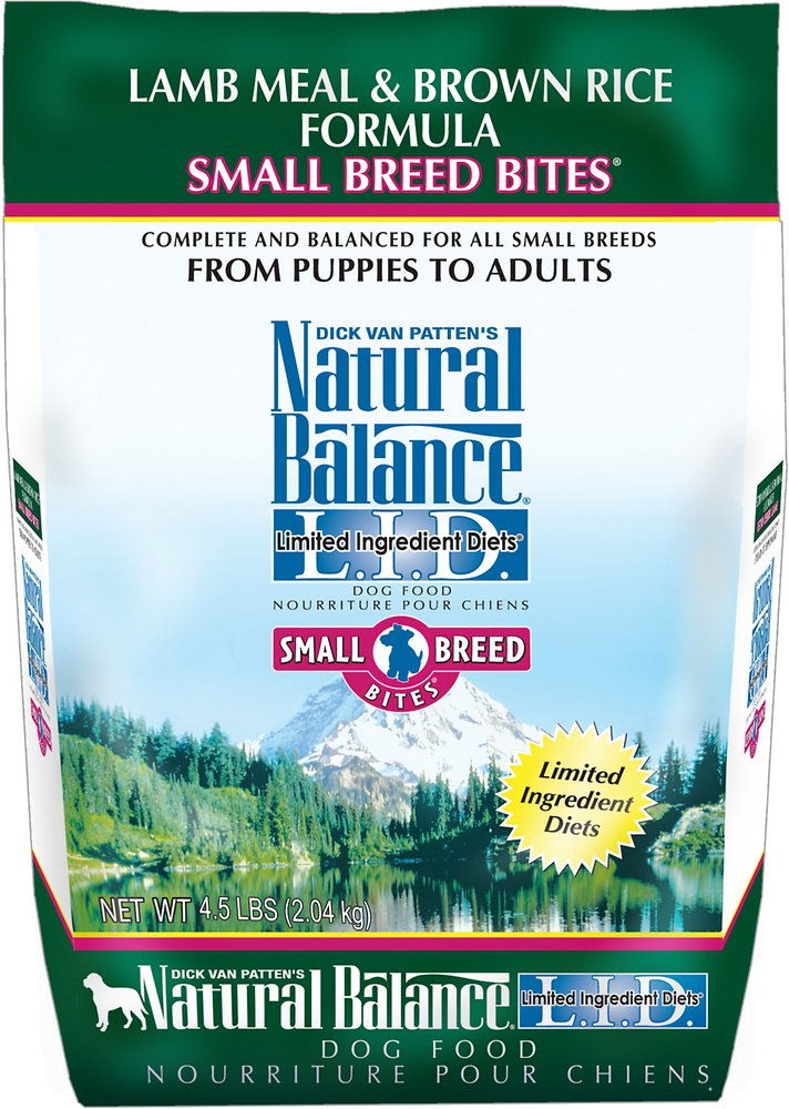 Natural Balance L.I.D. Limited Ingredient Diets Lamb Meal & Brown Rice Formula Small Breed Bites Dry Dog Food 4.5lbs