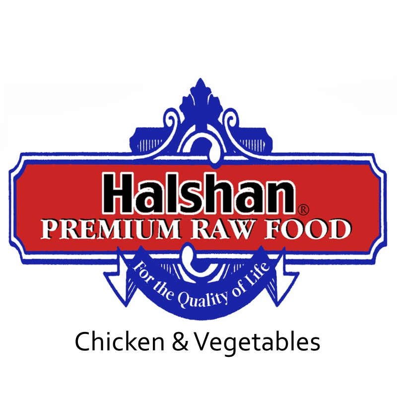 Halshan Chicken & Vegetables Raw Frozen Dog Food 1lbs