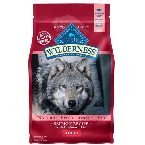 Blue Buffalo Wilderness Salmon Recipe Grain-Free Dry Dog Food 24lbs