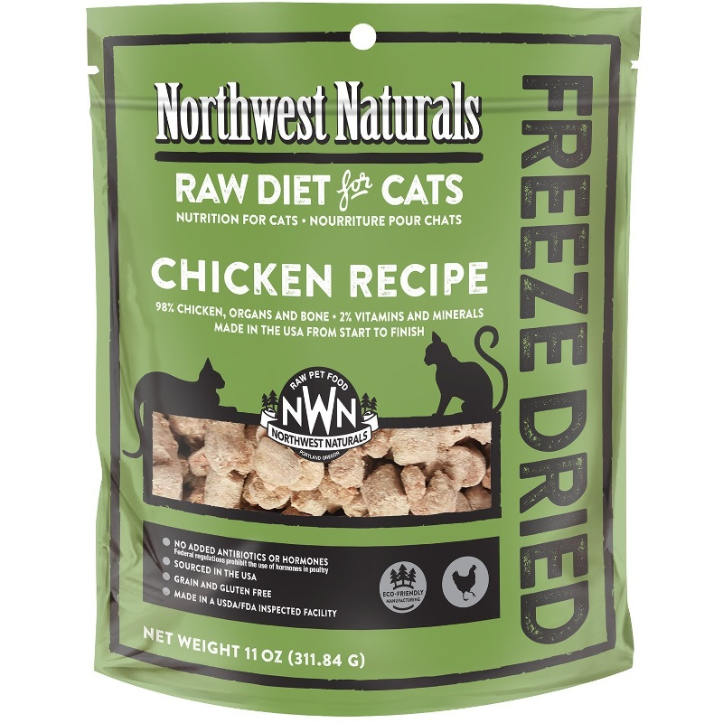 Northwest Naturals Raw Diet Grain-Free Chicken Nibbles Freeze Dried Cat Food 11z