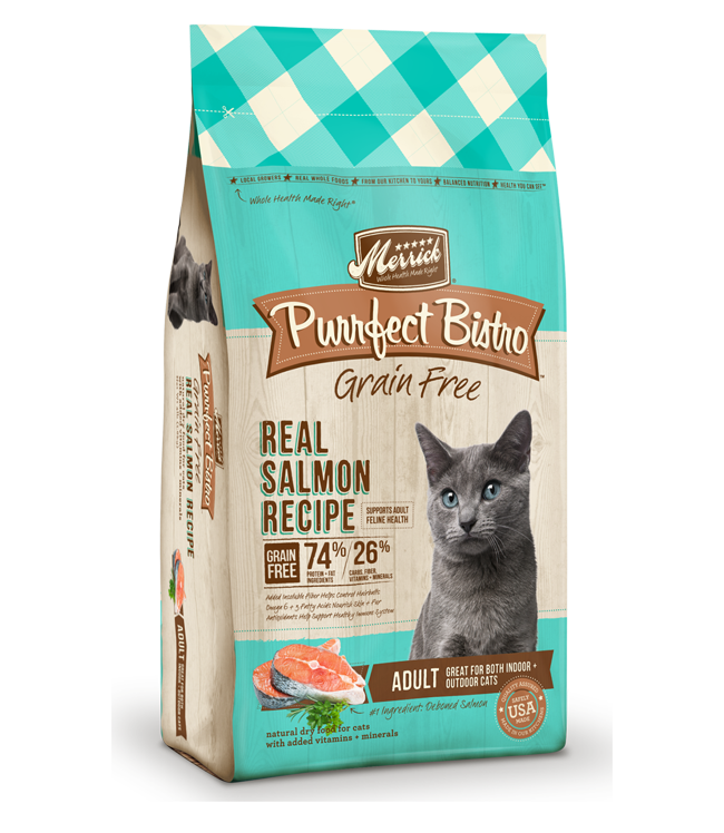 Merrick Purrfect Bistro Grain-Free Real Salmon Recipe Adult Dry Cat Food 12lbs