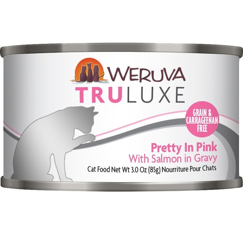 Weruva Truluxe Grain-Free Pretty In Pink with Salmon in Gravy Canned Cat Food 3z, 24