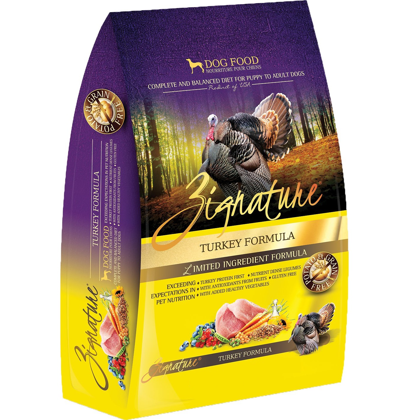 Zignature Grain-Free Turkey Limited Ingredient Formula Dry Dog Food 13.5lbs