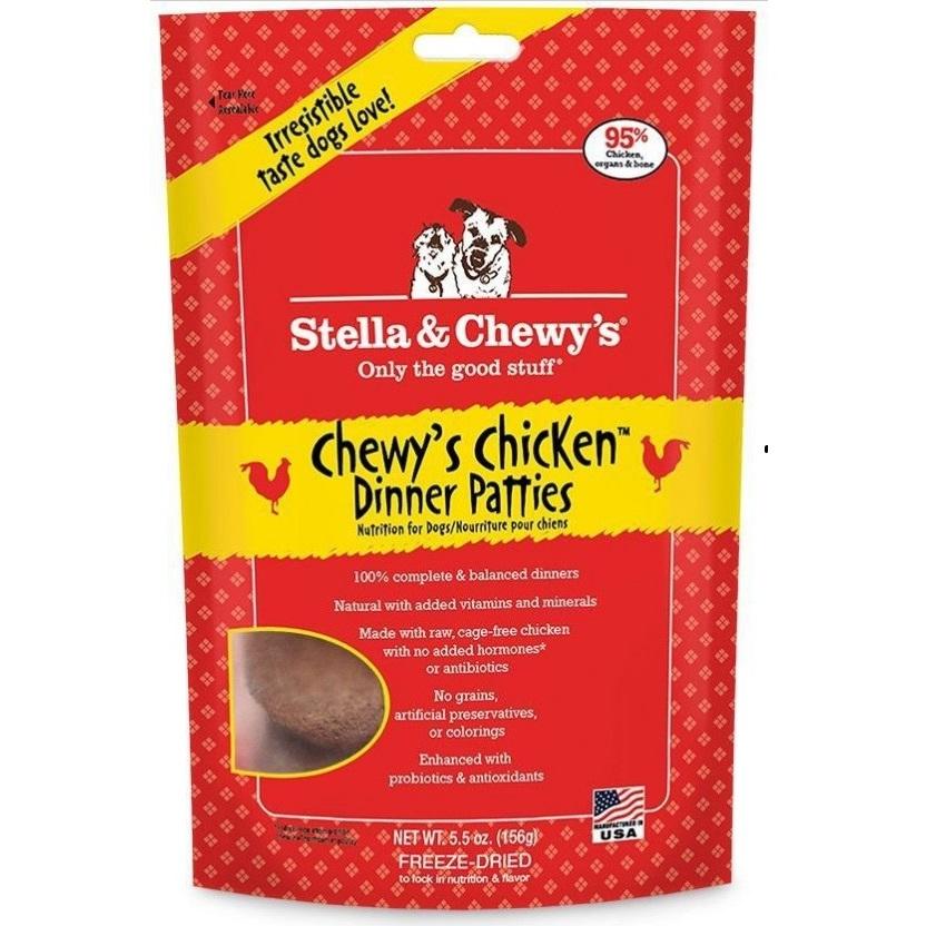 Stella & Chewy's Chewy's Chicken Dinner Patties Raw Freeze Dried Dog Food 5.5z