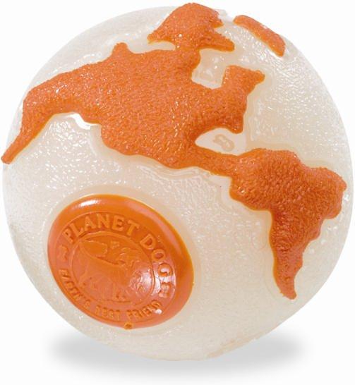 Planet Dog Orbee Ball Dog Toy - Glow/Orange, Small, cs