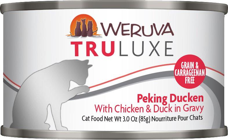 Weruva Truluxe Grain-Free Peking Ducken with Chicken & Duck in Gravy Canned Cat Food 3z, 24