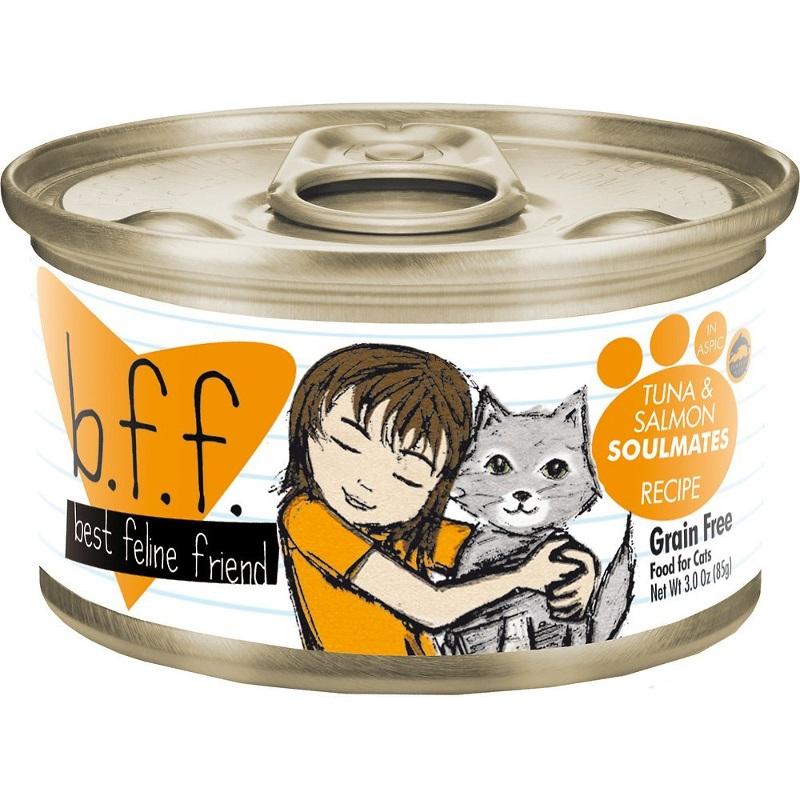 Weruva BFF Grain-Free Tuna & Salmon Soulmates Recipe in Aspic Canned Cat Food 3z, 24