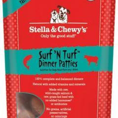 Stella & Chewy's Surf 'N Turf Dinner Patties Raw Freeze Dried Dog Food 6z