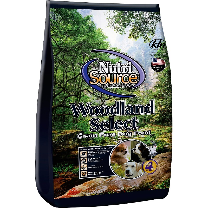 NutriSource Grain-Free Woodland Select Boar & Turkey Dry Dog Food 5lbs
