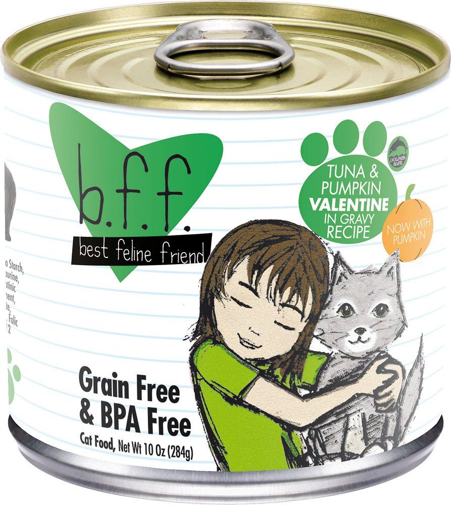 Weruva BFF Grain-Free Tuna & Pumpkin Valentine Recipe in Gravy Canned Cat Food 10z, 12