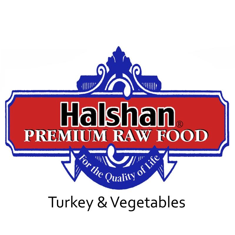Halshan Turkey & Vegetables Raw Frozen Dog Food 1lbs