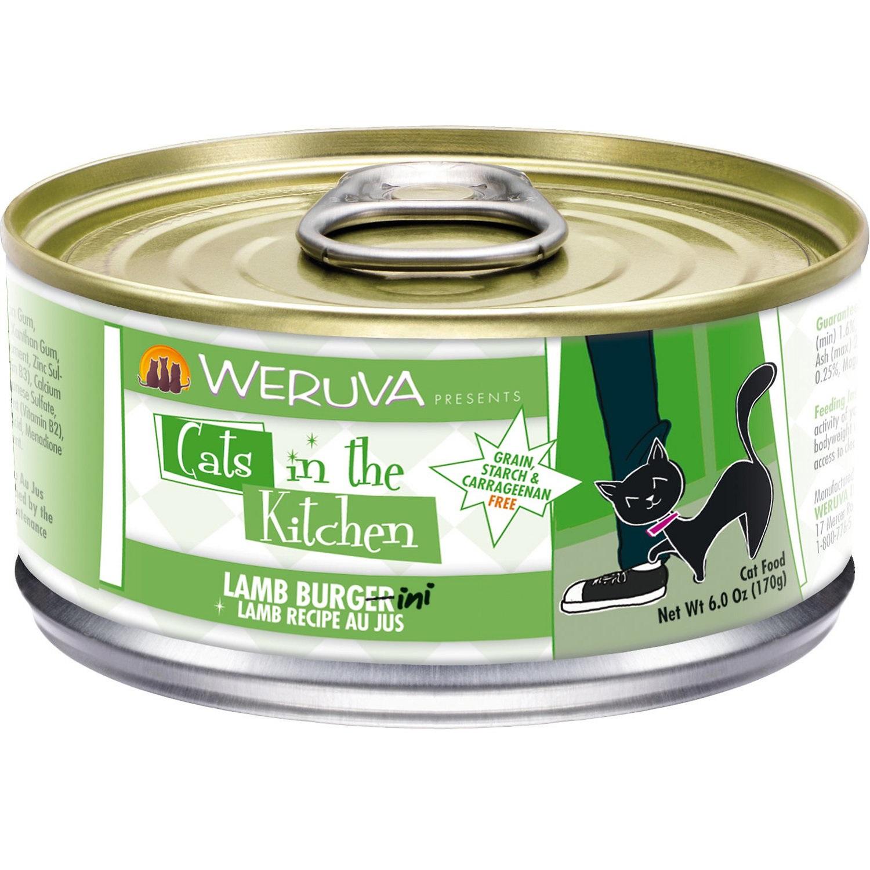 Weruva Cats in the Kitchen 'Lamb Burgini' Lamb Au Jus Grain-Free Canned Cat Food 6z, 24