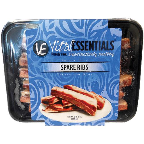 Vital Essentials Beef Spare Ribs Raw Frozen Dog Treats 2lbs