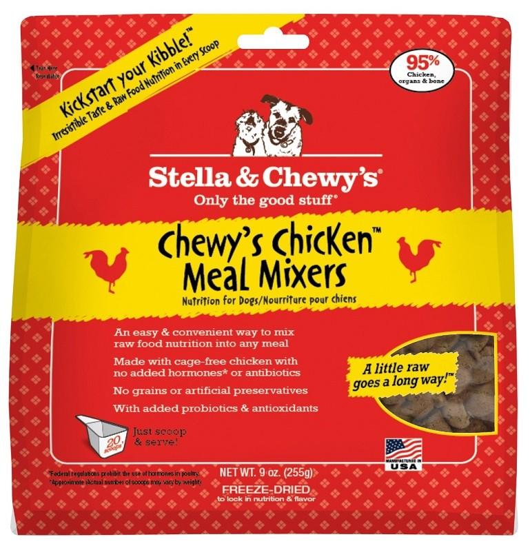 Stella & Chewy's Chewy's Chicken Meal Mixers Raw Freeze Dried Dog Food 9z