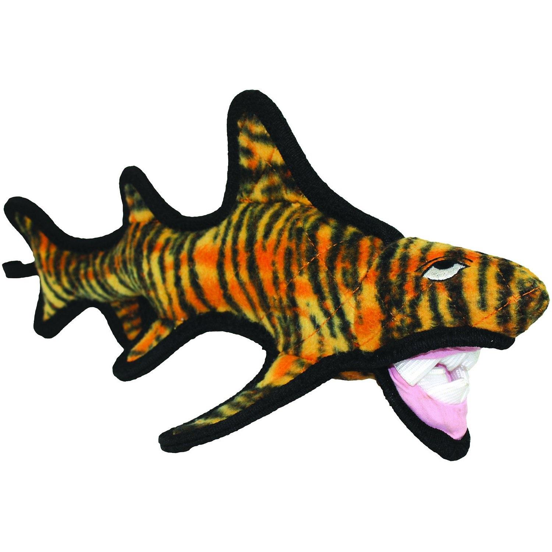 Tuffy Ocean Creature Tiger Shark Dog Toy