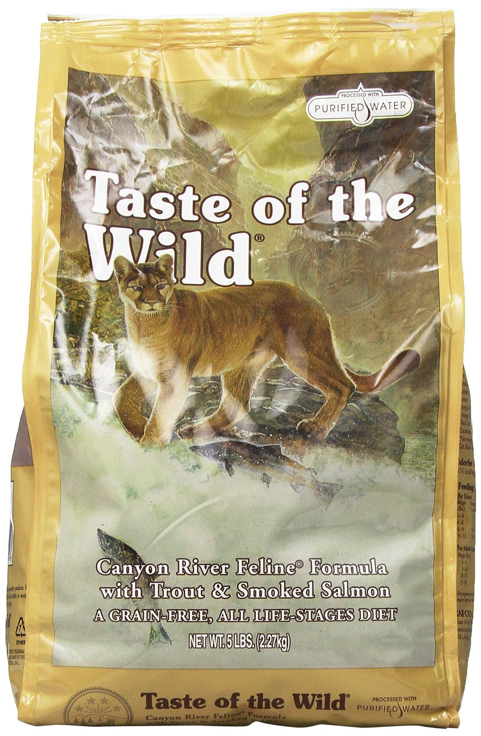 Taste of the Wild Canyon River Feline Trout & Salmon Dry Cat Food 5lbs