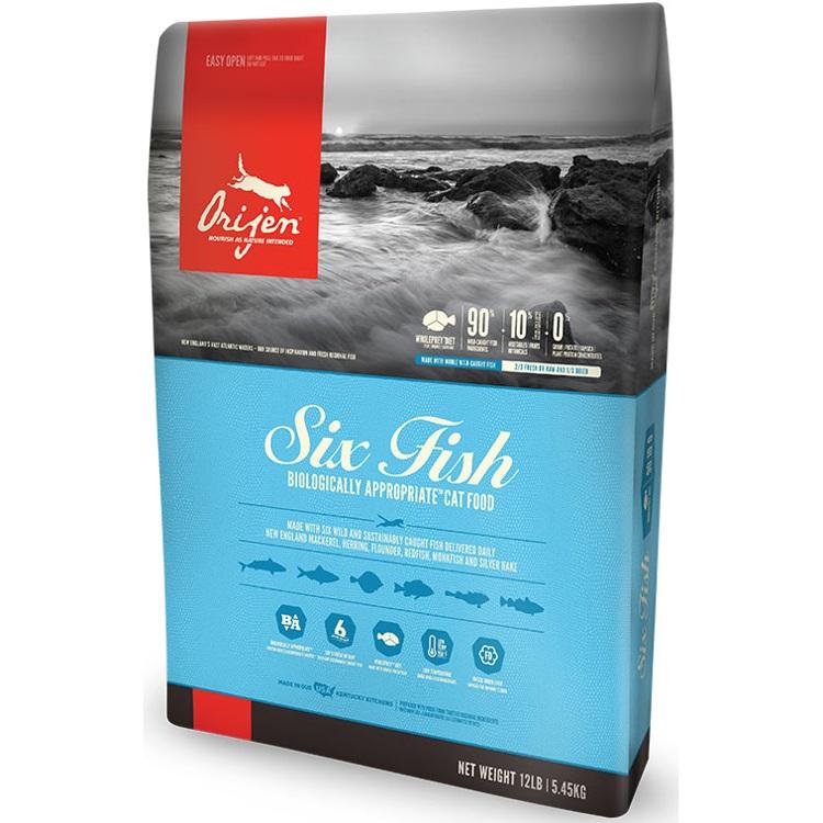 Orijen Six Fish Grain-Free Formula Dry Cat Food 12lbs