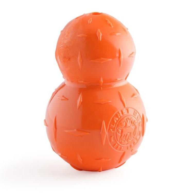 Planet Dog Orbee-Tuff Diamond Plate Double-Tuff Dog Toy - Large, Orange, 2