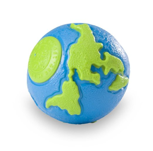 Planet Dog Orbee Ball Dog Toy - Blue/Green, Small, cs