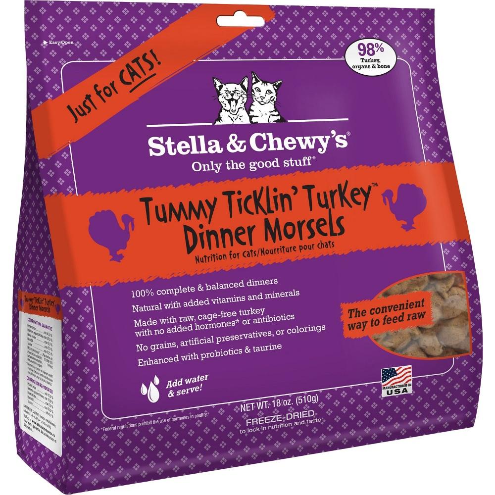 Stella & Chewy's Tummy Ticklin' Turkey Dinner Raw Freeze Dried Cat Food 18z