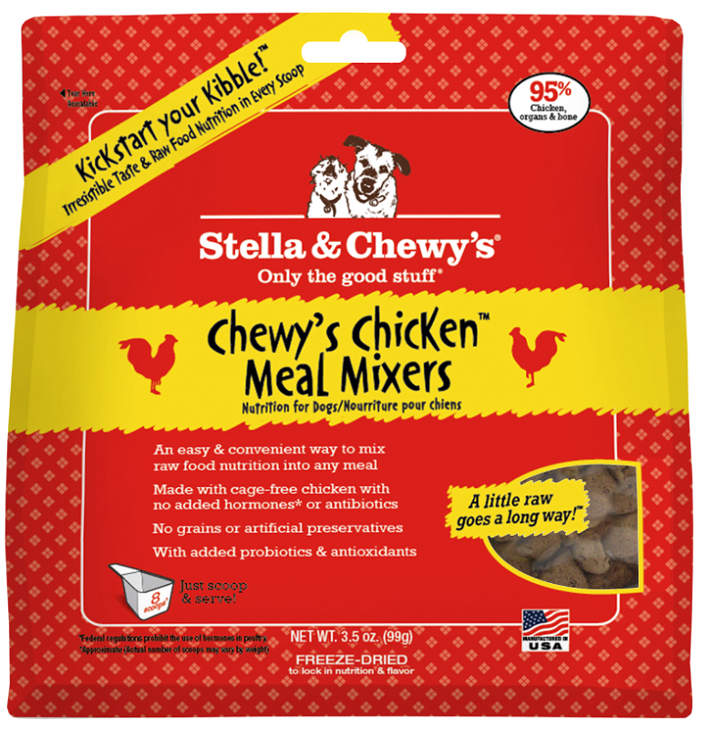 Stella & Chewy's Chewy's Chicken Meal Mixers Raw Freeze Dried Dog Food 3.5z