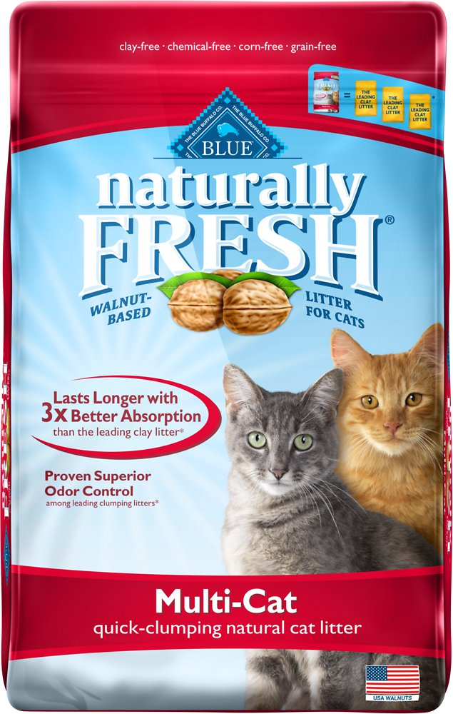 Blue Buffalo Naturally Fresh Walnut-Based Multi-Cat Quick-Clumping Cat Litter 14lbs